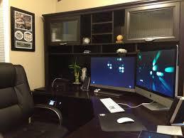 image of l shaped u shaped desk office depot