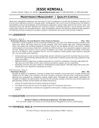 Maintenance Resume Cover Letter Maintenance Resume Cover Letter Supervisor Building Facility 27