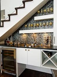 basement wet bar under stairs. Built In Basement Wet Bar - Use The Space Under Stairs A As Your Entertaining Zone.