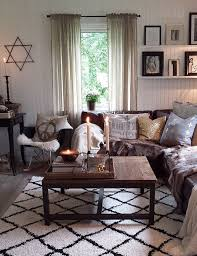 Neutral Living Room With Dark Brown Couches   Google Search