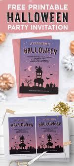 Free Halloween Birthday Invitation Templates Free Printable Halloween Party Invitation Haunted House