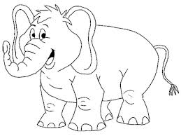 Page Coloring Pages Elephant Animals For