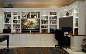 traditional desk wall unit