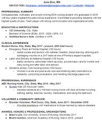 Nursing Graduate Resume Resume 101 Graduating Nursing Student Template Berxi