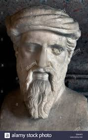 "pythagoras stock photos pythagoras stock images alamy herm hermes depicting ""pythagoras"" r sculpture from a greek original of the middle of"