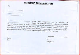Elegant Authorization Letter Sample For Claiming Money Wing Scuisine