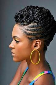 7twisted black hair updos a