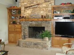 Captivating Fireplace In Dry Stack Stone Then Stone Landscaping Art Of In  Wood Mantle Art in