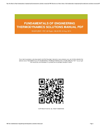 Fundamentals Of Engineering Thermodynamics 7th Edition Solutions ...