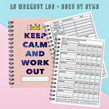 A6 Exercise Gym Pocket Sized Works With Diet Weight Loss Record Diary 3092876797310 Ebay