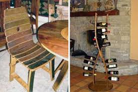 Barrel Designs specializes in a wide array of furniture crafted from  retired barrels once used to contain wine. The oak wood used in the  barrels is ...