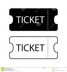 Ticket Icon Templates For Tickets To The Cinema Theater