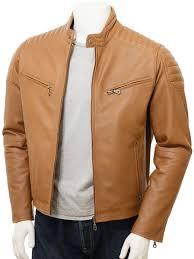 Light Brown Leather Jacket Mens Men S Black Brown And Tan Camel Quilt Elegant Classic Stud Tab Collar Real Leather Biker Jacket Mb 015