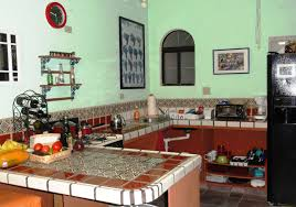 ... mesmerizing small mexican kitchen color idea with tile countertop ...