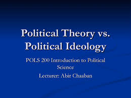 political theory vs political ideology