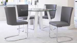 chrome and leather dining chair