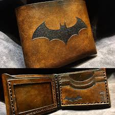 a leather batman wallet i just made