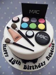 mac makeup cake 18th birthday for a young lady who loves birthday cakes for las