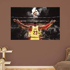cleveland cavaliers fan prove it put your passion on display with a giant lebron on cleveland cavaliers wall art with 14 best tylers room images on pinterest basketball themed rooms