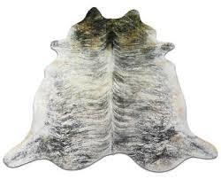 grey brindle cowhide rug size 8 x 7 huge gray brindle cowhide