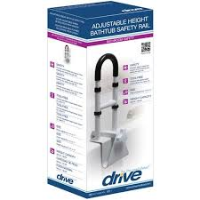 drive medical clamp on tub rail rtl12036 adj