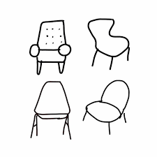 simple chair drawing. Delighful Drawing Chairs Drawing Art Artwork To Simple Chair Drawing