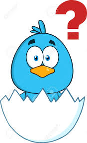 Cute Blue Bird Character Hatching From An Egg With Question Mark Stock Photo, Picture And Royalty Free Image. Image 43447227.