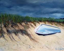boat painting cape cod boat by paul walsh