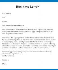 Example Business Letterhead Free Sample Business Communication Letter With Example