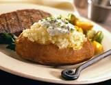 baked potatoes with roasted onions and sour cream