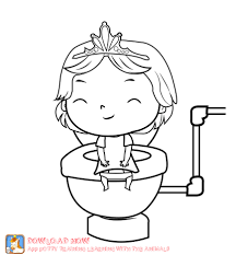 Potty Training Coloring Page Girl Part Of A Fun Potty Training