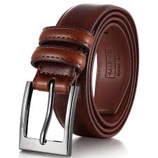 mio marino genuine leather dress belt