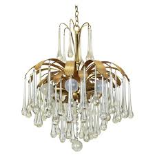 large murano glass tear drop chandelier by palwa germany 1960s for