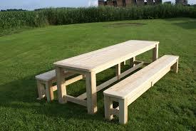 Table De Jardin En Bois Avec Banc Integre Maison Design Bahbe Com