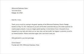 sample business thank you letter 10 free sample example format with regard to 10 examples of business letters