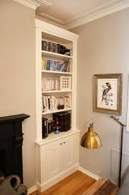 4 built in fitted bespoke alcove bookcase made to measure classic white