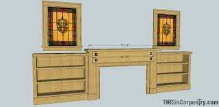 craftsman style mantel bookcases