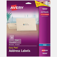Address Labels 30 Per Page Amazon Com Avery Matte Frosted Clear Address Labels For Inkjet