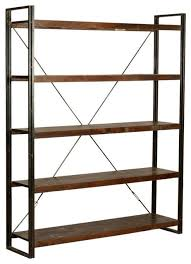 industrial french library 79 tall wood and iron wall bookcase shelves industrial bookcases by sierra living concepts