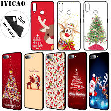 IYICAO <b>New Year Christmas</b> Soft <b>Silicone</b> Phone Case for Huawei ...
