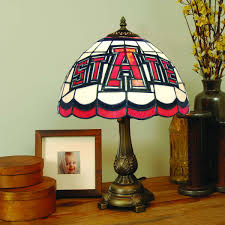 arkansas state red wolves stained glass table lamp