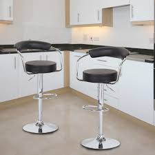 counter height barstools. Kitchen, Modern Counter Height Barstools Padded Seat And Back Black Faux Leather Upholstery Adjustable D