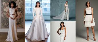6 fresh wedding gown trends with sleek silhouettes simple touches