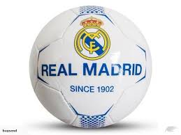 real madrid f c football official merchandise fc size 5 white faux leather trade me
