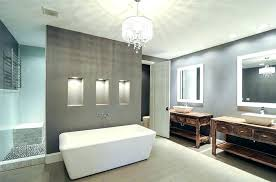 modern master bathroom ideas contemporary gray with drum chandelier design designs pictures