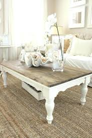 shabby chic coffee table ideas antique white