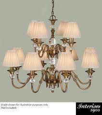 interiors 1900 polina 12 light chandelier antique brass crystal lx124p12b none