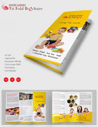 tri fold school brochure template 22 kindergarten brochure templates free psd eps ai indesign
