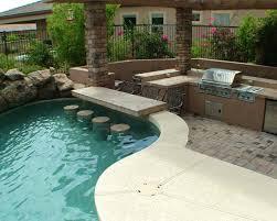 home pool bar. Swim-Up Pool Bar Ideas-21-1 Kindesign Home Pool Bar