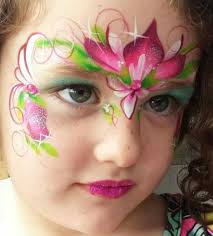 lovely pink flower crown anna face paint